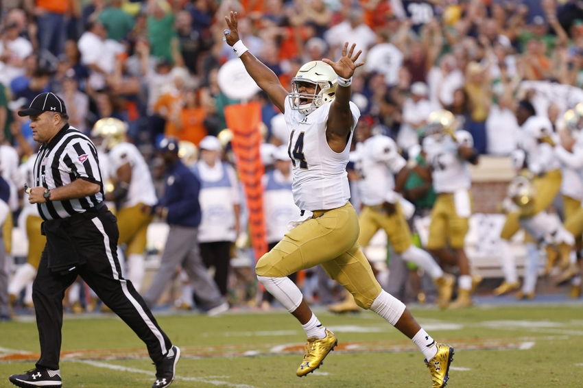 ncaa football spreads what is the score of the notre dame football game