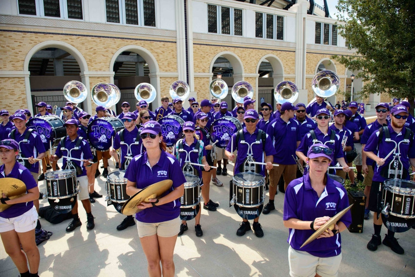 Image result for images of TCU marching band