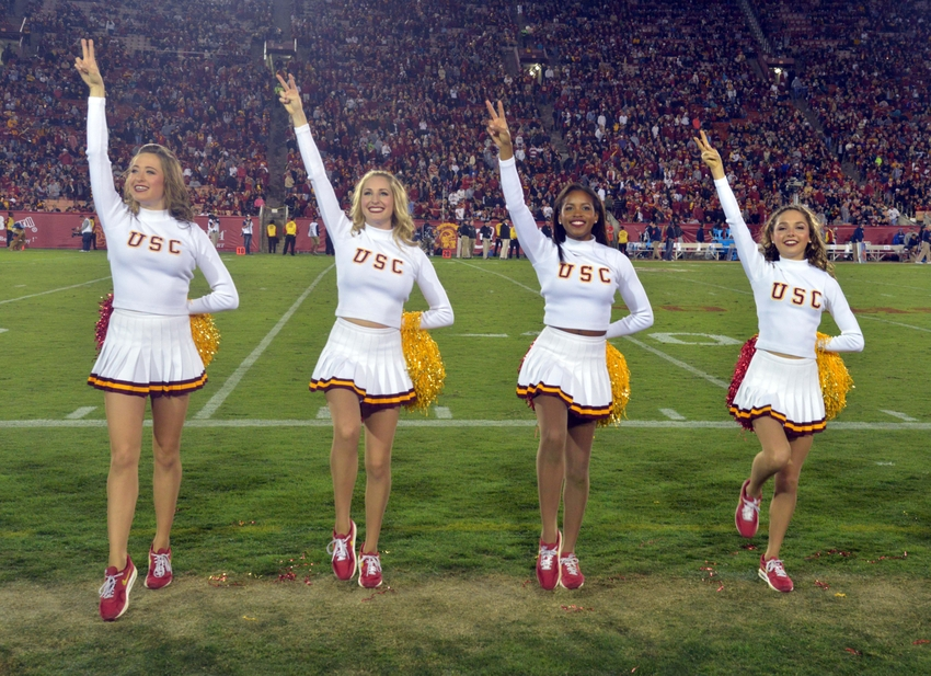 50 hottest college football cheerleaders of 2015 photo gallery nov 7 2015 los angeles ca usa southern california trojans song sciox Image collections