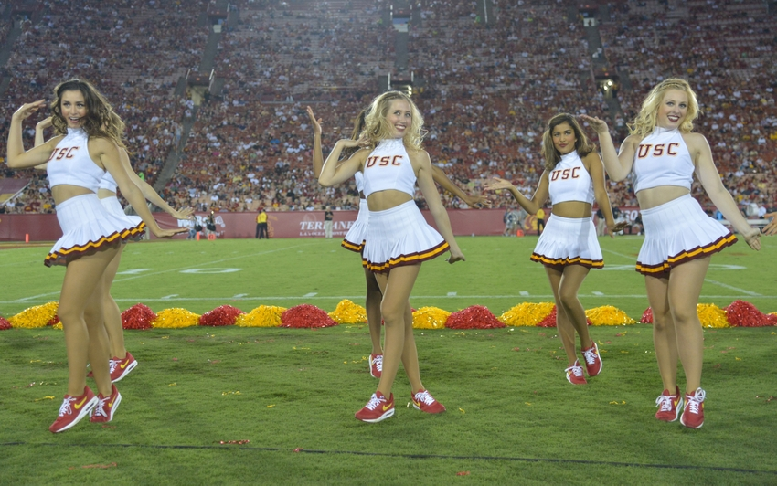50 hottest college football cheerleaders of 2015 photo gallery sep 12 2015 los angeles ca usa southern california trojans song sciox Image collections