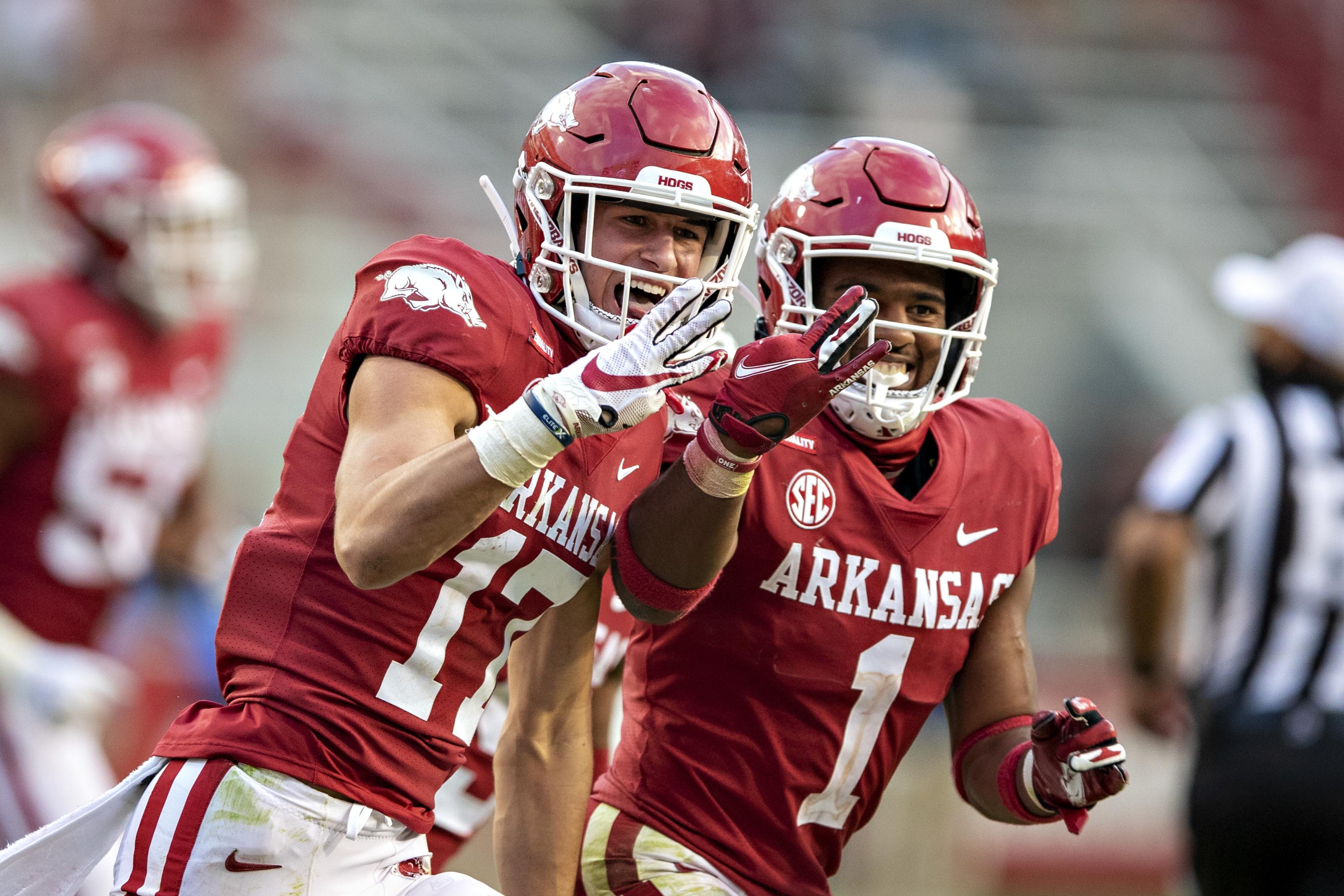 Arkansas Football Hudson Clark Goes From Walk on To Hero Vs Ole Miss