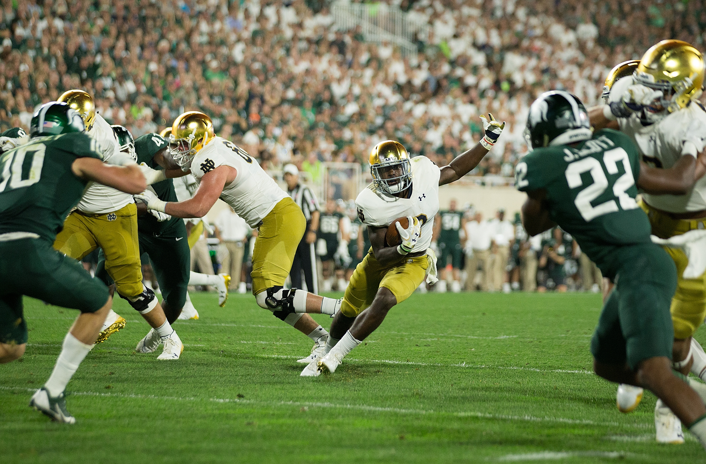 Notre Dame Football Is Dexter Williams The Next Great Irish Running Back